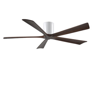 Irene-H Five Blade Gloss White 60-Inch Hugger-Style Ceiling Fan