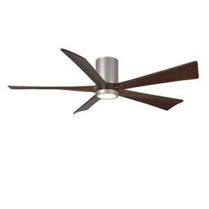 Irene-H Five Blade Brushed Nickel 60-Inch LED One-Light Hugger-Style Ceiling Fan