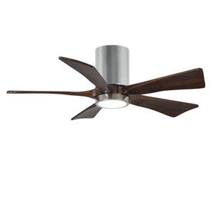 Irene-5HLK Polished Chrome 42-Inch LED Ceiling Fan with Barnwood Tone Blades