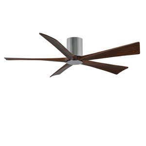 Irene-H Five Blade Polished Chrome 60-Inch LED One-Light Hugger-Style Ceiling Fan