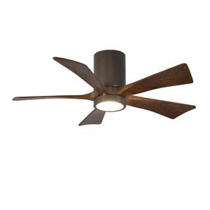 Irene-H Five Blade Textured Bronze 42-Inch LED One-Light Hugger-Style Ceiling Fan