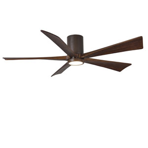 Irene-H Five Blade Textured Bronze 60-Inch LED One-Light Hugger-Style Ceiling Fan