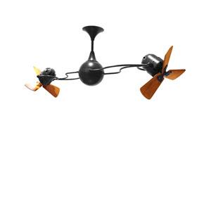 Italo Ventania Black 62-Inch Ceiling Fan with Wood Blades