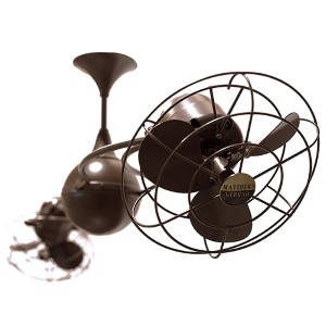 Italo Ventania Brushed Copper 60-Inch Rotational Ceiling Fan with Metal Blades