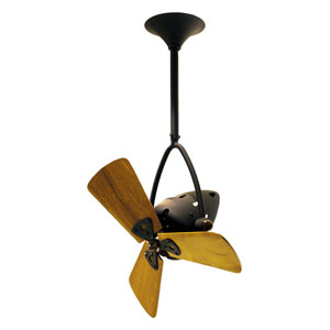 Jarold Directional 16-Inch Bronze Ceiling Fan with Wood Blades