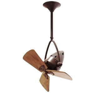 Jarold Directional Bronzette 16-Inch Ceiling Fan with Wood Blades