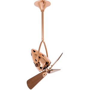 Jarold Directional Polished Copper 16-Inch Ceiling Fan with Mahogany Blades