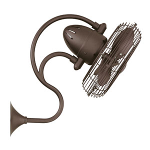 Melody Textured Bronze Oscillating Wall Mounted Fan