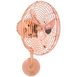 Michelle Parede Brushed Copper 16-Inch Directional Wall Fan with Metal Blades