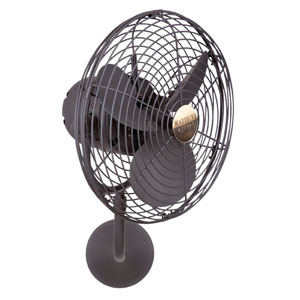 Michelle Parede Bronze 13-Inch Wall Fan with Metal Blades