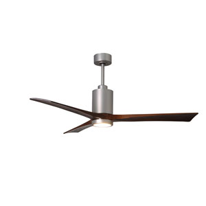 Patricia Three Blade Brushed Nickel 60-Inch LED One-Light Ceiling Fan
