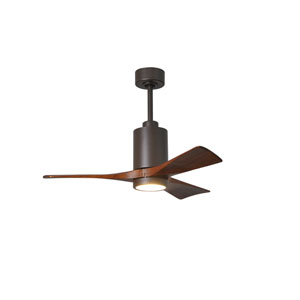 Patricia Three Blade Textured Bronze 42-Inch LED One-Light Ceiling Fan