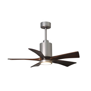 Patricia Five Blade Brushed Nickel 42-Inch LED One-Light Ceiling Fan