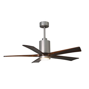 Patricia Five Blade Brushed Nickel 60-Inch LED One-Light Ceiling Fan
