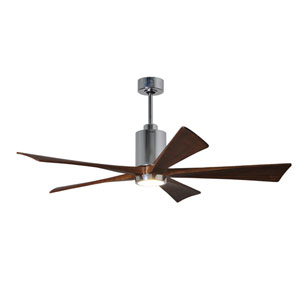 Patricia Five Blade Polished Chrome 52-Inch LED One-Light Ceiling Fan