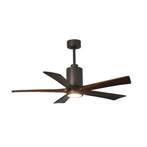 Patricia Five Blade Textured Bronze 60-Inch LED One-Light Ceiling Fan