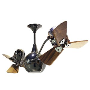 Vent-Bettina Brushed Copper 44-Inch Rotational Ceiling Fan with Wood Blades