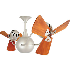 Vent Bettina Brushed Nickel 44-Inch Ceiling Fan with Mahogany Blades