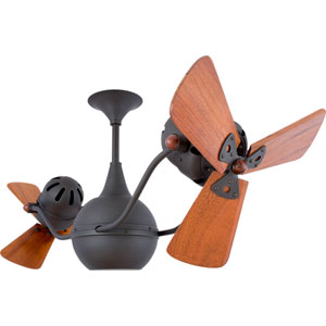 Vent Bettina Bronze 44-Inch Ceiling Fan with Mahogany Blades