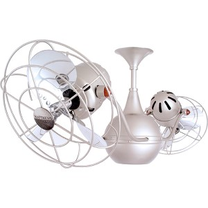 Vent-Bettina Brushed Nickel 42-Inch Rotational Ceiling Fan with Metal Blades