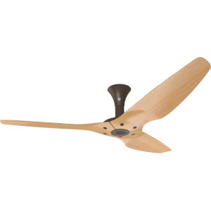 Haiku Oil Rubbed Bronze 60-Inch Low Profile Outdoor Ceiling Fan with Caramel Bamboo Blades