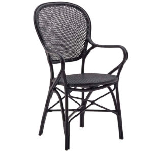 Rossini Black Dining Armchair