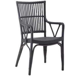 Piano Black Dining Armchair