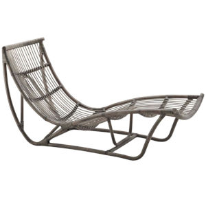 Michelangelo Taupe Gray Chaise Lounge