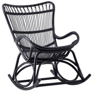 Monet Black Rocking Chair