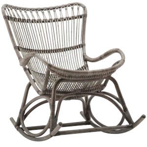 Monet Taupe Gray Rocking Chair