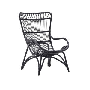 Monet Black High Rack Lounge Chair