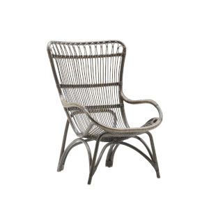 Monet Taupe Gray High Rack Lounge Chair