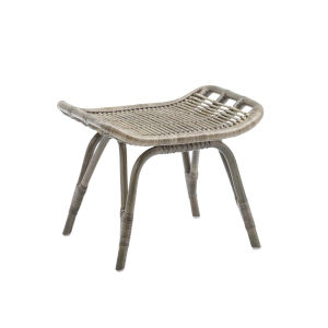Monet Taupe Gray Foot Stool