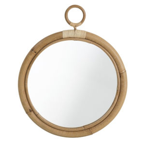 Ella Natural 18-Inch Rattan Wall Mirror