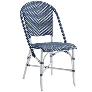 Sofie Navy and White Outdoor Dining Chair