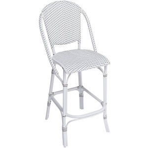 Sofie White and Cappuccino Outdoor Bar Stool
