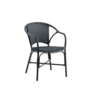 Valerie Black and Cappuccino Outdoor Chair