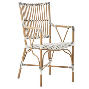 Alu Affaire Almond Outdoor Dining Arm Chair