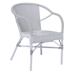 Madeleine White and Cappuccino Dining Armchair
