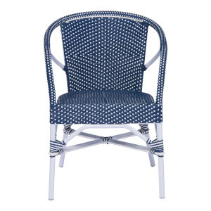 Madeleine Navy and White Dining Chair