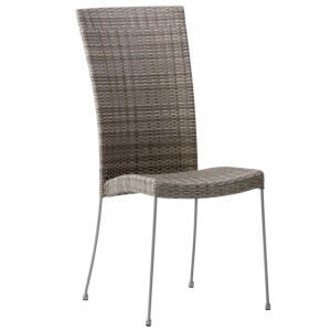 Saturn Teak Gray Outdoor Chair