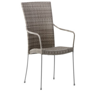 Saturn Teak Gray Outdoor Armchair