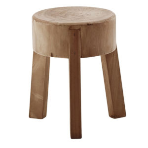 Roger Natural Brown Stool