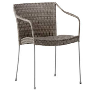 Pluto Teak Gray Outdoor Chair