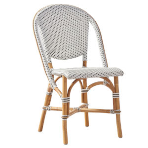Sofie White and Cappuccino Bistro Dining Side Chair