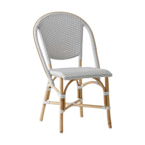 Sofie Gray and White Bistro Dining Side Chair