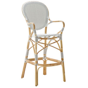 Isabell White and Cappuccino Bistro Bar Stool
