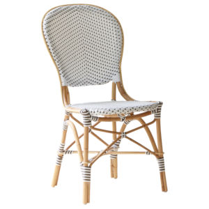 Isabell White and Cappuccino Bistro Dining Side Chair