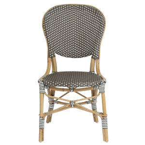 Isabell Gray and Cappuccino Bistro Dining Side Chair