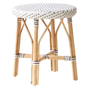 Simone White and Cappuccino Stool